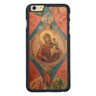 Funda Fina De Arce Para iPhone 6 Plus De Carved Maria, Jesús, y ángeles