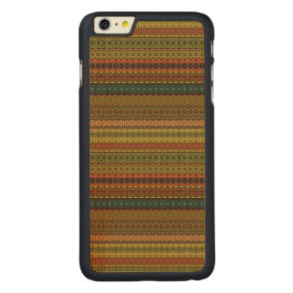 Funda Fina De Arce Para iPhone 6 Plus De Carved Modelo azteca tribal del vintage