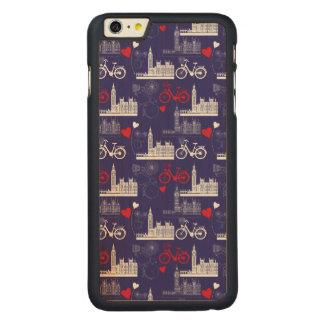 Funda Fina De Arce Para iPhone 6 Plus De Carved Modelo de las señales de Londres