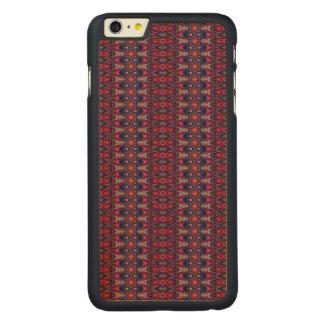 Funda Fina De Arce Para iPhone 6 Plus De Carved Modelo floral étnico abstracto colorido de la