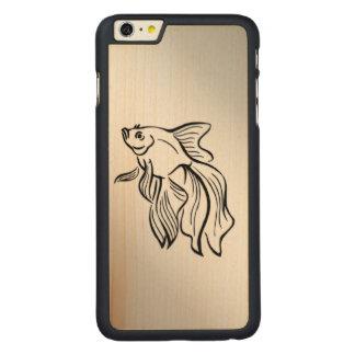 Funda Fina De Arce Para iPhone 6 Plus De Carved Pescados que luchan siameses