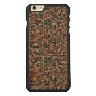 Funda Fina De Arce Para iPhone 6 Plus De Carved Remiendo del vintage con los elementos florales de