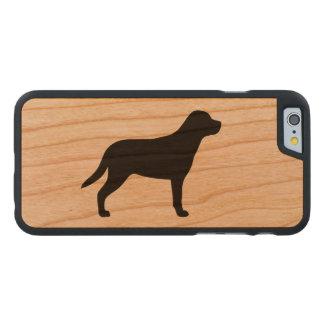 Funda Fina De Cerezo Para iPhone 6 De Carved Mayor silueta suiza del perro de la montaña