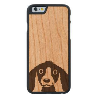 Funda Fina De Cerezo Para iPhone 6 De Carved Perro largo de los oídos