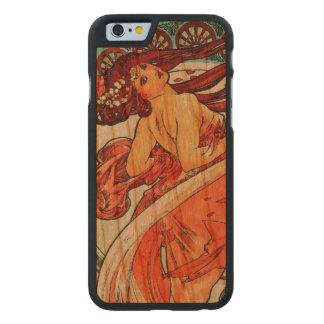 Funda Fina De Cerezo Para iPhone 6 De Carved Pintura de Nouveau del arte del vintage de la