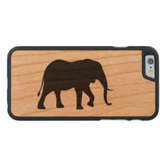 Funda Fina De Cerezo Para iPhone 6 De Carved Silueta del elefante africano