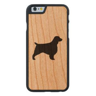 Funda Fina De Cerezo Para iPhone 6 De Carved Silueta del perro de aguas de saltador galés