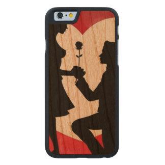 Funda Fina De Cerezo Para iPhone 6 De Carved Vintage: El día de San Valentín -