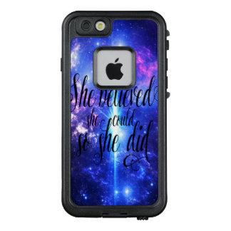Funda FRÄ' De LifeProof Para iPhone 6/6s Ella creyó en cielos iridiscentes