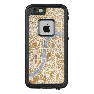 Funda FRÄ' De LifeProof Para iPhone 6/6s Mapa dorado de la ciudad de Londres