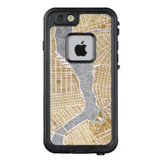 Funda FRÄ' De LifeProof Para iPhone 6/6s Mapa dorado de la ciudad de Nueva York
