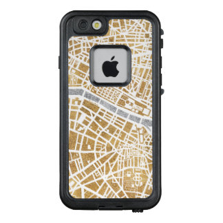 Funda FRÄ' De LifeProof Para iPhone 6/6s Mapa dorado de la ciudad de París