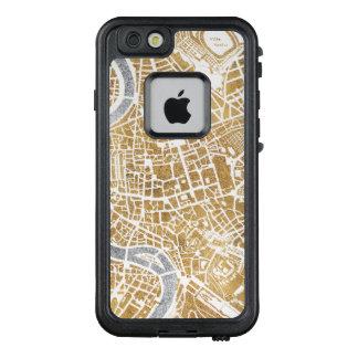 Funda FRÄ' De LifeProof Para iPhone 6/6s Mapa dorado de la ciudad de Roma