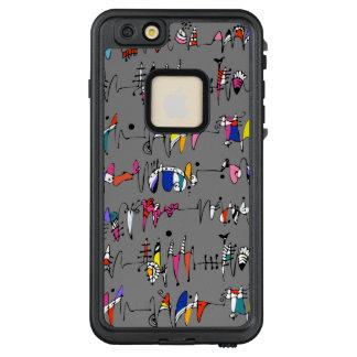 Funda FRÄ' De LifeProof Para iPhone 6/6s Plus Abstracción de líneas onduladas