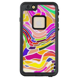 Funda FRÄ' De LifeProof Para iPhone 6/6s Plus Arte abstracto colorido, líneas blancas de las