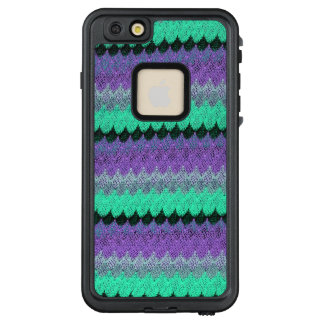 Funda FRÄ' De LifeProof Para iPhone 6/6s Plus Concha de peregrino púrpura de punto de las ondas