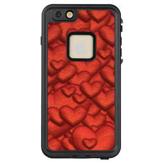 Funda FRÄ' De LifeProof Para iPhone 6/6s Plus Corazones brillantes de color rojo oscuro