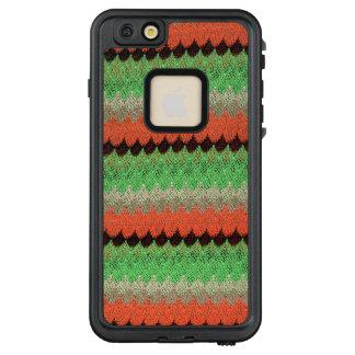Funda FRÄ' De LifeProof Para iPhone 6/6s Plus Cordón anaranjado del negro del ganchillo del