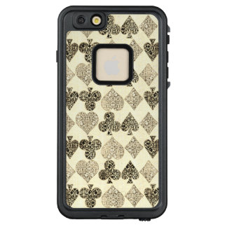 Funda FRÄ' De LifeProof Para iPhone 6/6s Plus Diamante beige Antiqued envejecido del corazón del