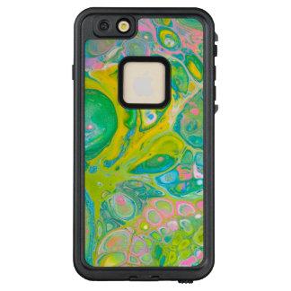 Funda FRÄ' De LifeProof Para iPhone 6/6s Plus El acrílico del verde y del rosa vierte arte