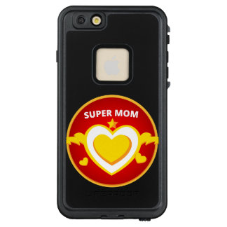 Funda FRÄ' De LifeProof Para iPhone 6/6s Plus Emblema divertido de la mamá del flash del super