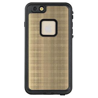 Funda FRÄ' De LifeProof Para iPhone 6/6s Plus Estilo de la tela escocesa de tartán de Brown del