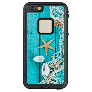 Funda FRÄ' De LifeProof Para iPhone 6/6s Plus Estrella de mar tropical en la madera azul