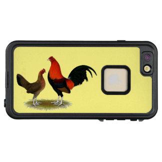 Funda FRÄ' De LifeProof Para iPhone 6/6s Plus Gallos de juego ingleses viejos:  Pares del rojo