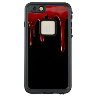 Funda FRÄ' De LifeProof Para iPhone 6/6s Plus La sangre de Falln gotea negro