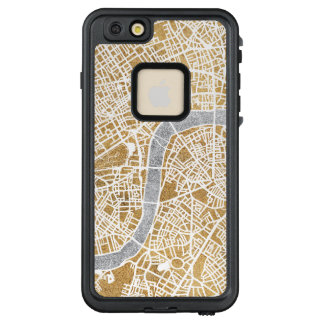 Funda FRÄ' De LifeProof Para iPhone 6/6s Plus Mapa dorado de la ciudad de Londres