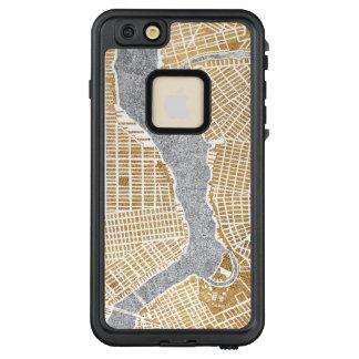 Funda FRÄ' De LifeProof Para iPhone 6/6s Plus Mapa dorado de la ciudad de Nueva York