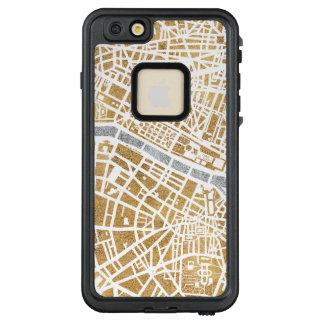 Funda FRÄ' De LifeProof Para iPhone 6/6s Plus Mapa dorado de la ciudad de París