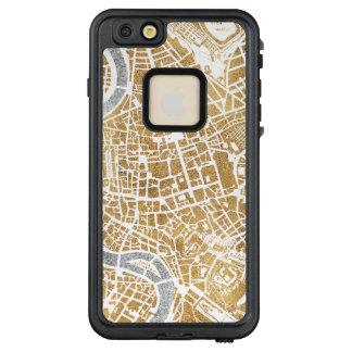 Funda FRÄ' De LifeProof Para iPhone 6/6s Plus Mapa dorado de la ciudad de Roma