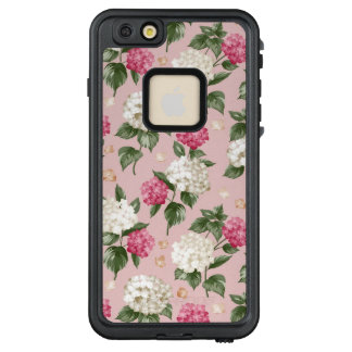 Funda FRÄ' De LifeProof Para iPhone 6/6s Plus Modelo inconsútil floral del Hydrangea rosado