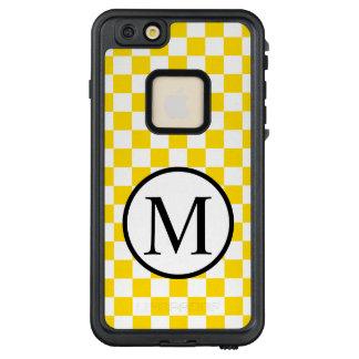 Funda FRÄ' De LifeProof Para iPhone 6/6s Plus Monograma simple con el tablero de damas amarillo