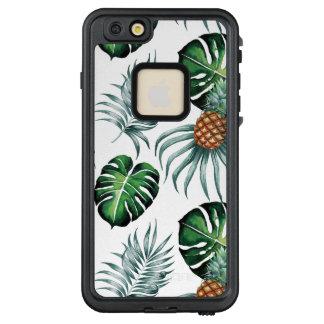 Funda FRÄ' De LifeProof Para iPhone 6/6s Plus Pintura tropical de la piña de la acuarela en
