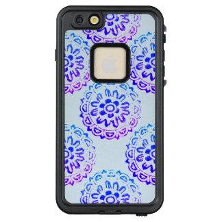 Funda FRÄ' De LifeProof Para iPhone 6/6s Plus Púrpura azul de la mandala tribal del círculo