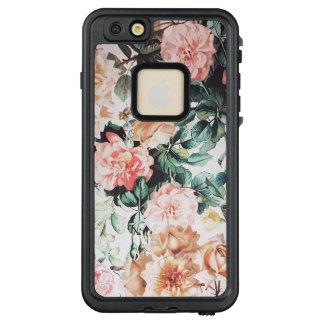 Funda FRÄ' De LifeProof Para iPhone 6/6s Plus Rosas amarillos rosados verdes de la acuarela del