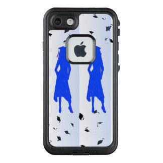 Funda FRÄ' De LifeProof Para iPhone 7 4 siluetas azules de los chicas del graduado