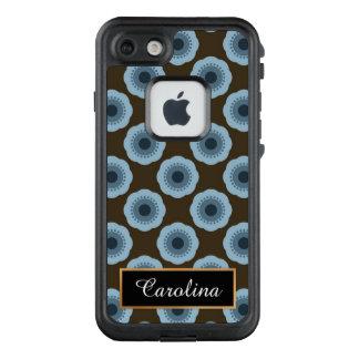 Funda FRÄ' De LifeProof Para iPhone 7 Azul y estampado de flores de Brown, personalizado