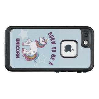 Funda FRÄ' De LifeProof Para iPhone 7 caso del unicornio, apenas en mí puedo colorear