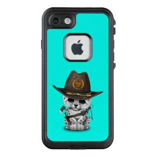 Funda FRÄ' De LifeProof Para iPhone 7 Cazador lindo del zombi de Cub de la onza