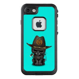 Funda FRÄ' De LifeProof Para iPhone 7 Cazador lindo del zombi de Cub de la pantera negra