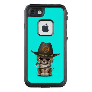 Funda FRÄ' De LifeProof Para iPhone 7 Cazador lindo del zombi de Cub del guepardo