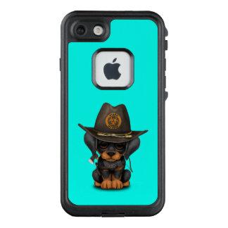 Funda FRÄ' De LifeProof Para iPhone 7 Cazador lindo del zombi del perrito del Doberman