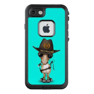 Funda FRÄ' De LifeProof Para iPhone 7 Cazador lindo del zombi del potro