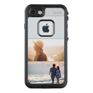 Funda FRÄ' De LifeProof Para iPhone 7 Collage suave de la foto del gris dos del amor el