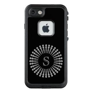 Funda FRÄ' De LifeProof Para iPhone 7 Diamantes de encargo del monograma blancos y
