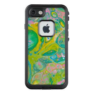 Funda FRÄ' De LifeProof Para iPhone 7 El acrílico del verde y del rosa vierte arte