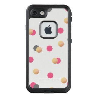 Funda FRÄ' De LifeProof Para iPhone 7 el confeti rosado gris oro elegante del polluelo